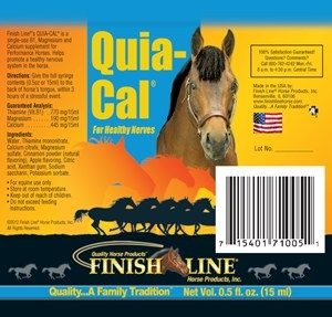 Quia-Cal can be a great for calming down moving horses.