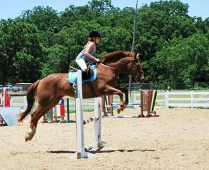 Riding horses requires strong leg, back, arm and core muscles.