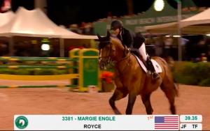 Margie Engle wins on Royce
