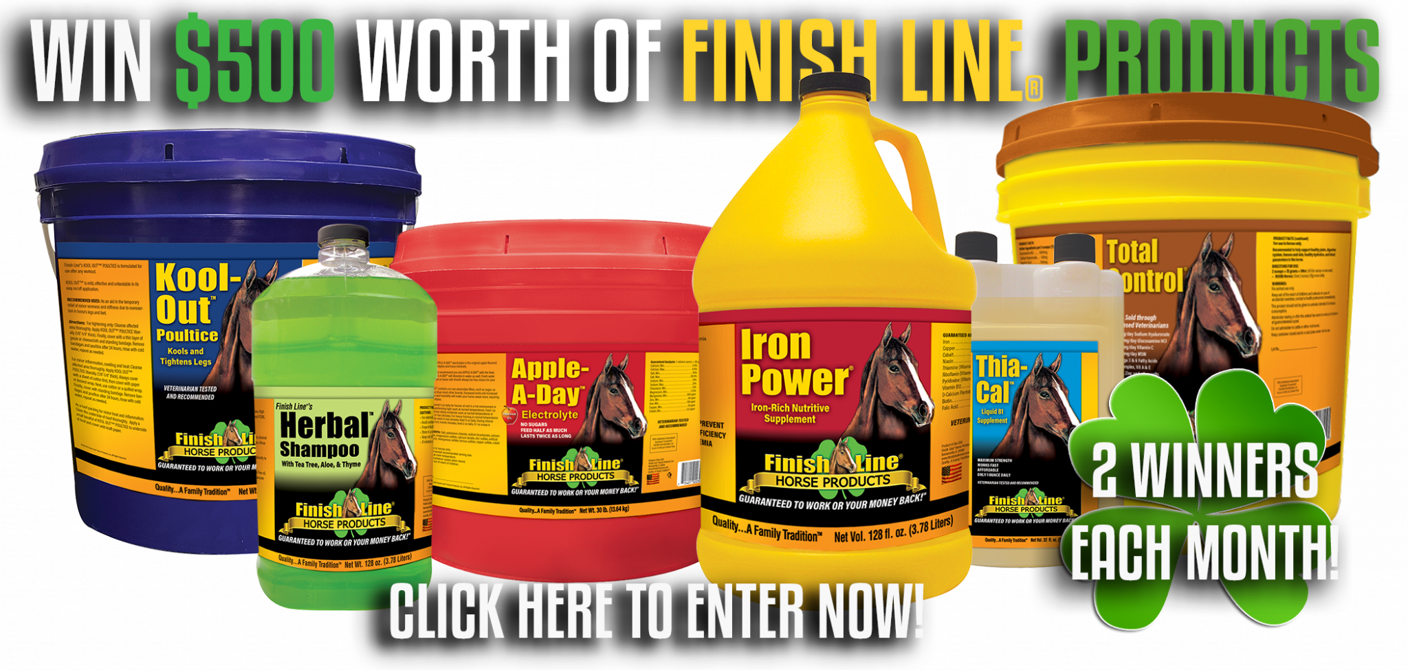 Finish Line Horse Products Contest
