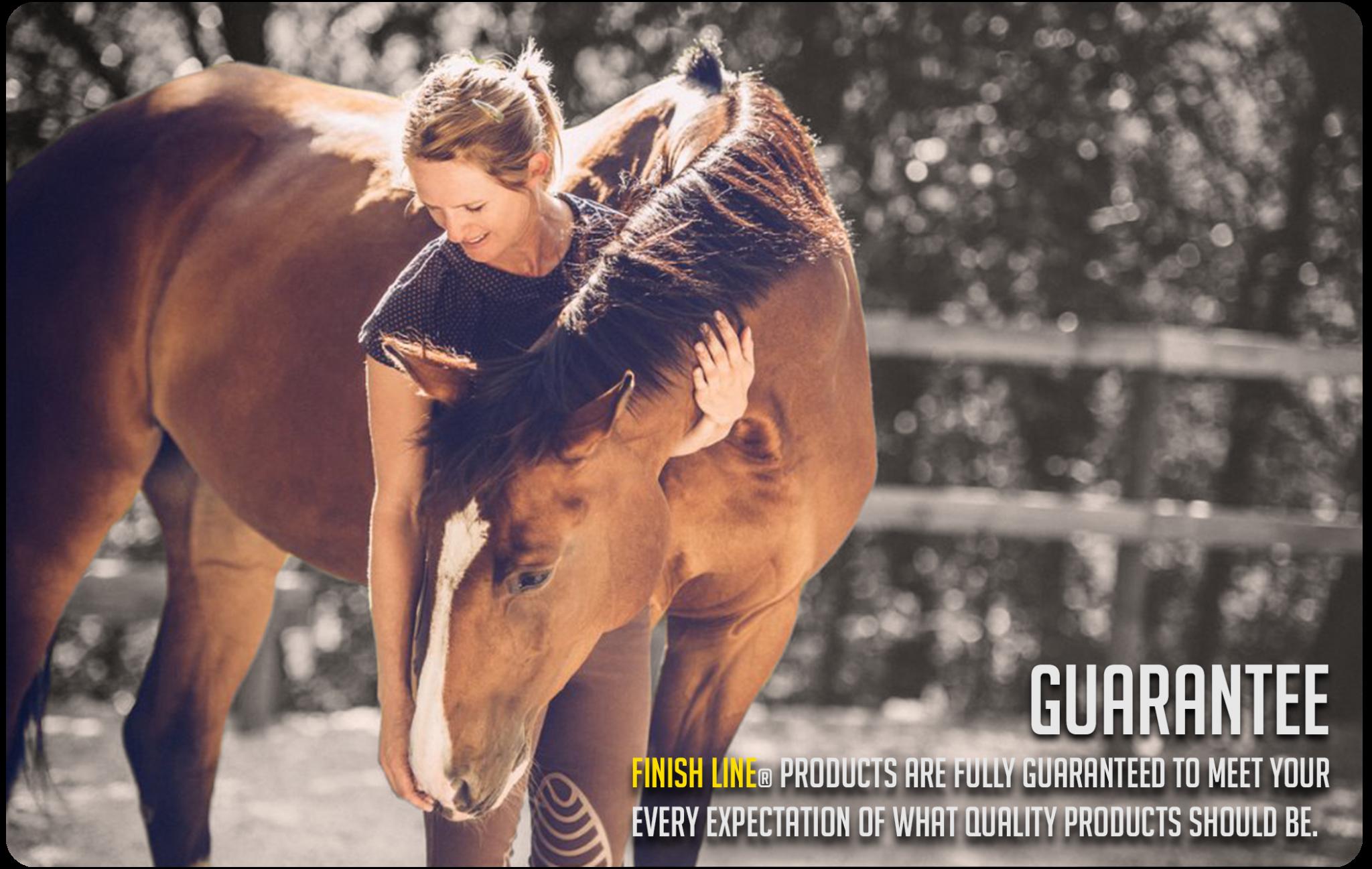 Finish line horse offers 100% money back guarantee