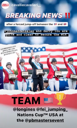 margie engle show jumping team news