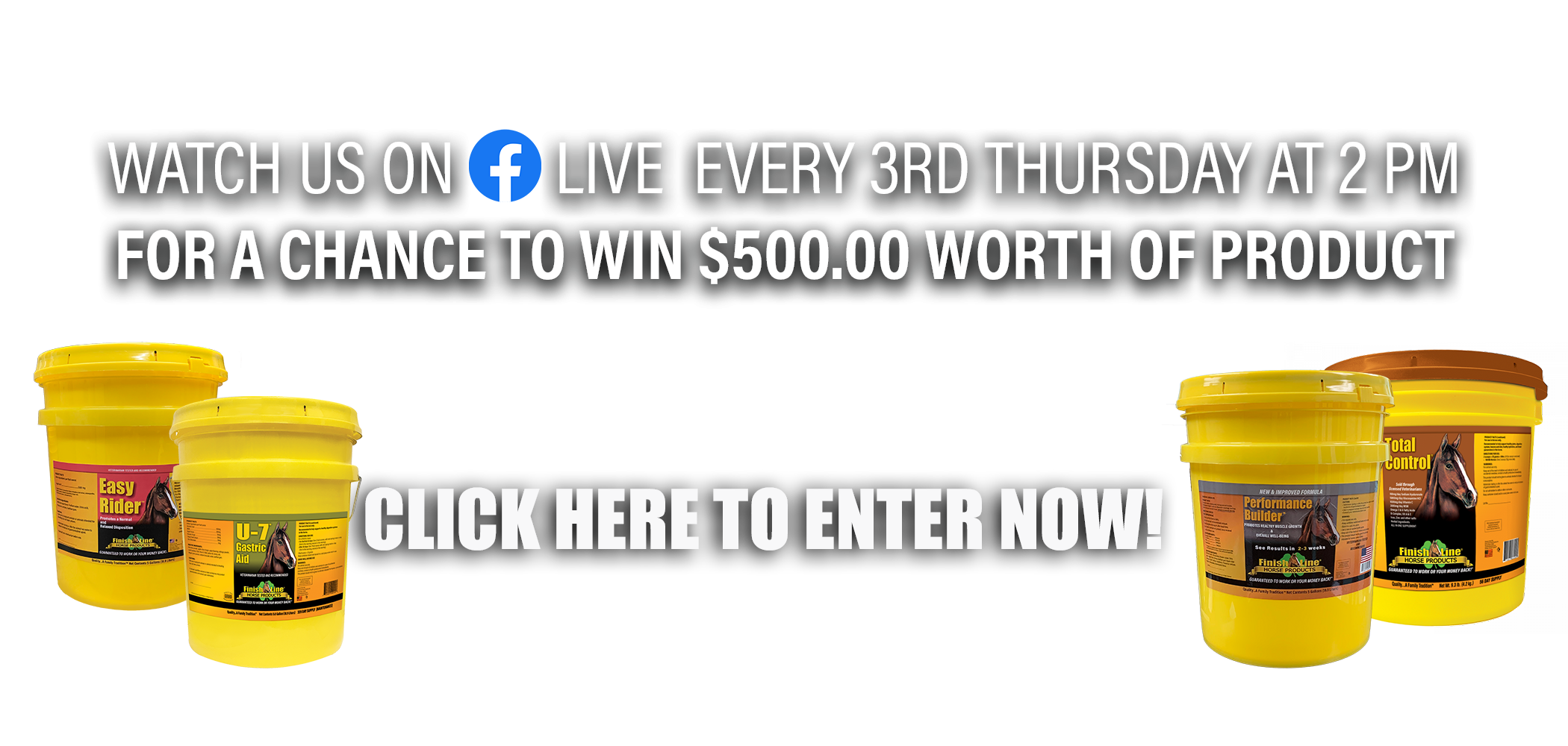 Facebook Live for Finish Line Horse Products winner