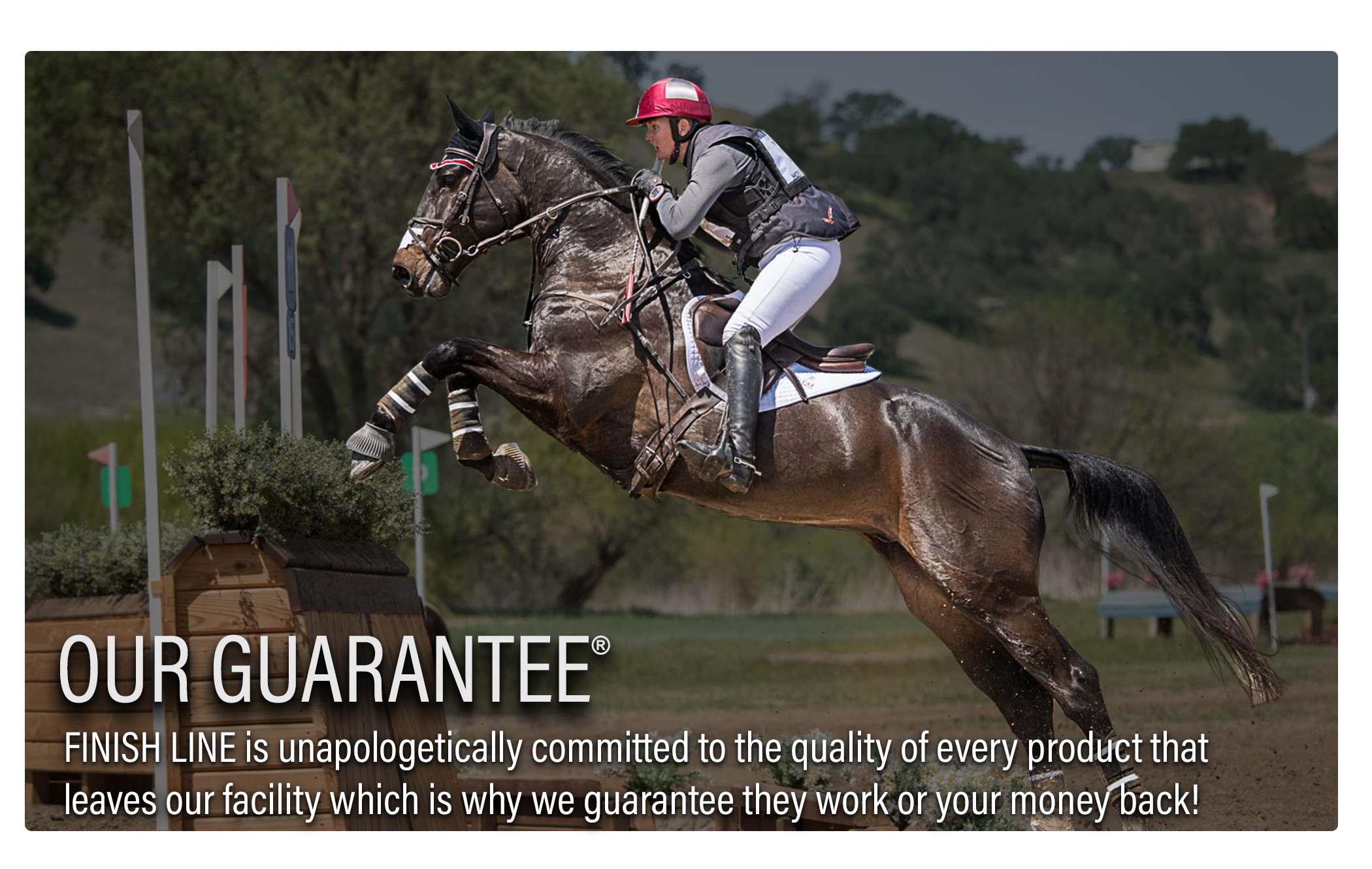Finish Line Horse Products Guarantee