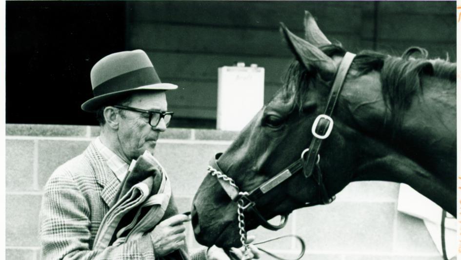 Woody Stephens Finish Line Horse